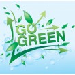 Stock Vector: Go green poster