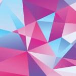 Постер, плакат: Geometric triangle pattern purple color dominant