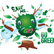 Stock Vector: Go green
