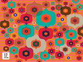 Javanese batik on vintage bright night — Stock Vector