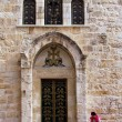 Jerusalem Holy Sepulcher door 2012 - Stock fotografie