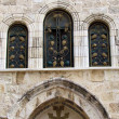 Jerusalem Holy Sepulcher windows 2012 - Stok fotoğraf