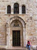 Drzwi grobu świętego w jerozolimie 2012 — Zdjęcie stockowe