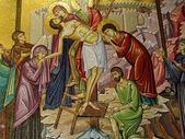 Jerusalem Holy Sepulcher Deposition of Christ 2012 — Stock Photo