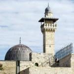 Jerusalem Al-Aqsa Mosque minaret and dome 2012 — Stock Photo #49665843