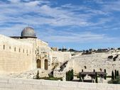 Jerusalem Al-Aqsa Mosque and Mount of Olives 2012 — Stock Photo