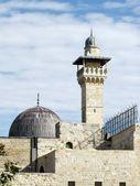 Jerusalem Al-Aqsa Mosque minaret and dome 2012 — Stock Photo