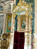 Jerusalem Holy Sepulcher the throne of Orthodox Patriarch 2012  — Stock Photo