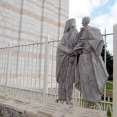 Nazareth Basilica Pope Paul VI and Ecumenical Patriarch Athenago — Stock Photo