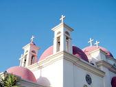 Kapernaum Domes of Church  2010 — Stock Photo