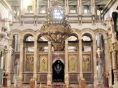 Jerusalem Holy Sepulcher Catholicon Hall 2012  — Stock Photo