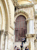 Jerusalem Holy Sepulcher window 2012 — Stock Photo