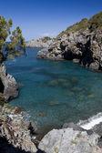 San Nicola Arcella (Cosenza) Beach priest 2 — Stock Photo