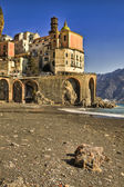 Atrani italian fishing village Amalfi coast — Stock Photo