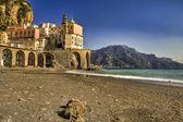 Atrani italian fishing village Amalfi coast (SA) — Stock Photo