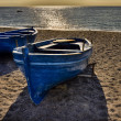 Erchie Amalfi coast Italy beach and boats 2 — Stock Photo