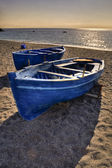 Erchie Amalfi coast beach and boats — Stock Photo