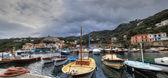 Massa Lubrense, italian fishing village Panoramic — Stock Photo
