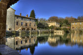 Bagno Vignoni village of Tuscany (Italy) — Stock Photo