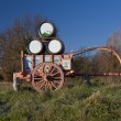 Handcart towed symbol of Val d'Orcia (Tuscany)  Italy — Stock Photo