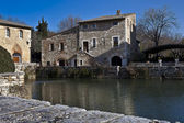 Bagno Vignoni village of Tuscany (Italy)2 — Stockfoto