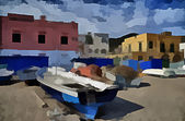 Village of Saint Peter beach Ischia Island Italy 2 — Zdjęcie stockowe