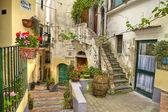 Best village of Italy  Albori  wash street — Stock Photo