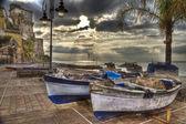 Cetara    best  italian fishing village — Stock Photo