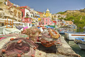 Procida island  Corricella fishing village — Stockfoto