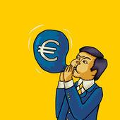 Inflation in the euro area (euro Inflation, euro crash, euro crisis). Vector illustration. — Stock Vector