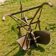Stock Photo: Antique agriculture machine plough