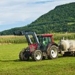 Stock Photo: Tractor with dung
