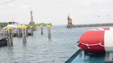 Port allemagne bodensee du lac de constance — Vidéo