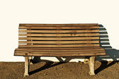 Park bench with sun — Stock Photo
