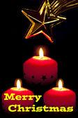 Veselé vánoční přání — Stock fotografie