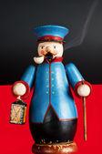 Incense smoker night watchman — Stock Photo