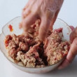 Meat dough — Stock Video