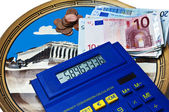 Euro crisis in Greek — Stockfoto