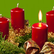 1.Advent — Foto de Stock