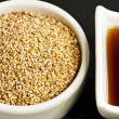 Stock Photo: Sesame oil and sesame