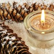 Candle in snow — Stockfoto #16809351