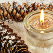 Stockfoto: Candle in snow