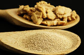 Baking ingredient yeast powder — Stok fotoğraf