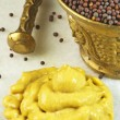 Mustard seed and mustard — Stock Photo