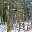 Stock Photo: Hunting stand in wintertime
