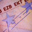 Stock Photo: Closeup of Euro banknote