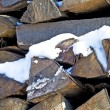Stock Photo: Fuel-wood in wintertime