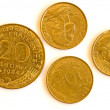 Former European currency of France - Stock Photo