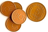 Former European currency of Denmark — Stock Photo