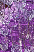 Bric-a-brac market with wine glasses — Stock Photo